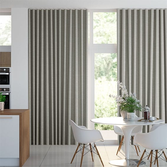 Wave Ahisma Luxe Faux Zijde Chrome Wave Gordijn
